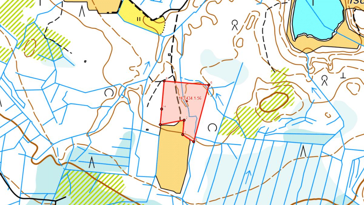 Metsätila Sillanpää karttakuva