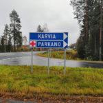 Opastus Valtatie kolmelta (VT3) Parkanosta Karvian suuntaan