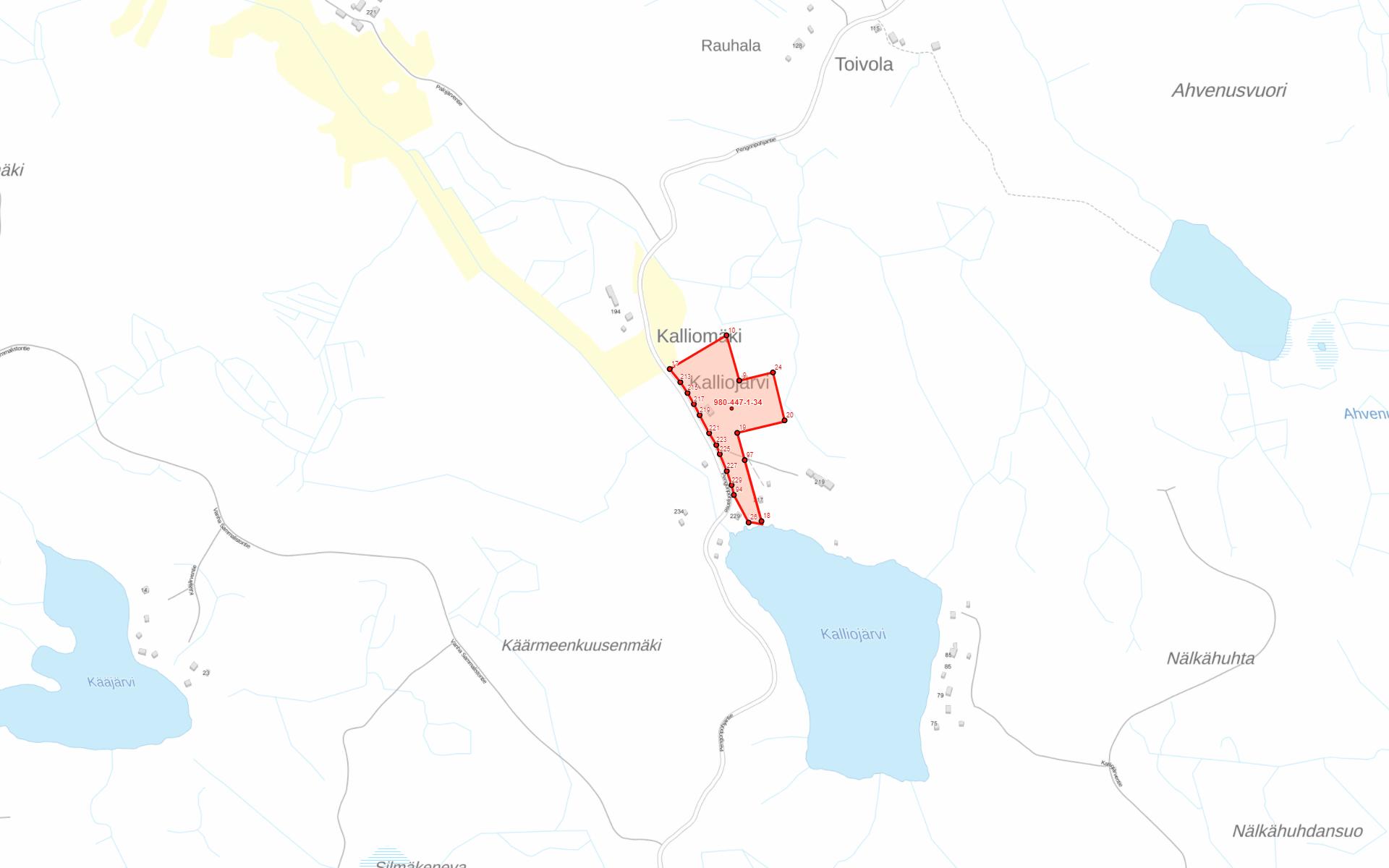 Ylöjärvi Pengonpohja kartta