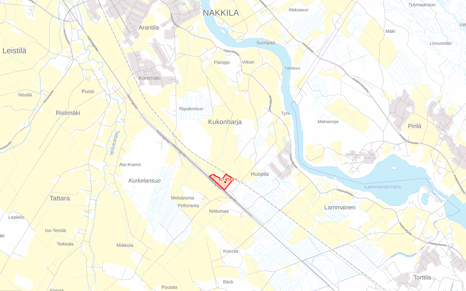 Nakkila Metsäkallo kartta